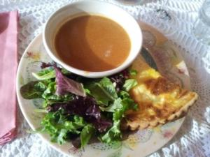 Potager Blue Cheese Sweet Potato Quiche